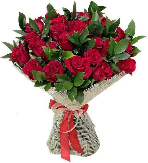 12 Rose rosse medie