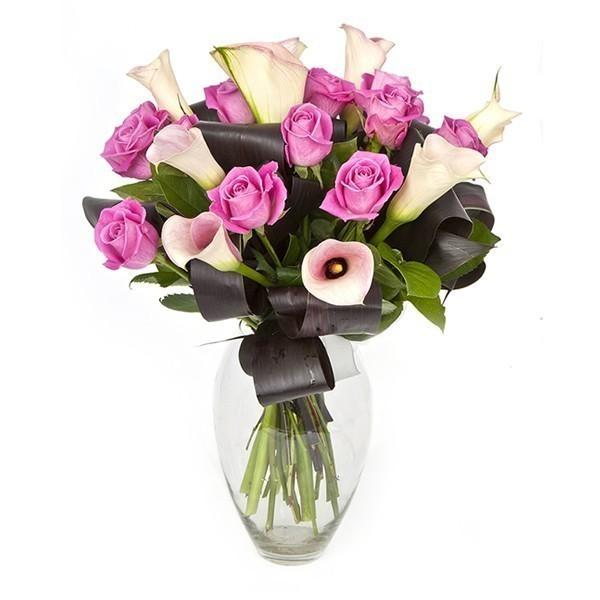 bouquet rose e calle