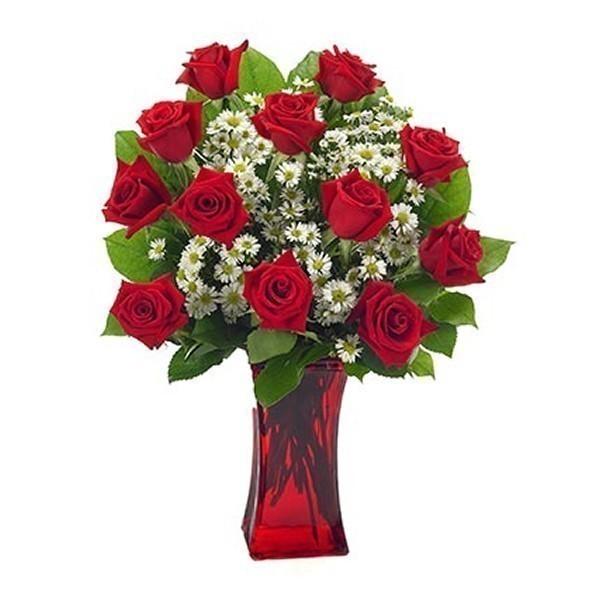 bouquet rose rosse e nebbiolina