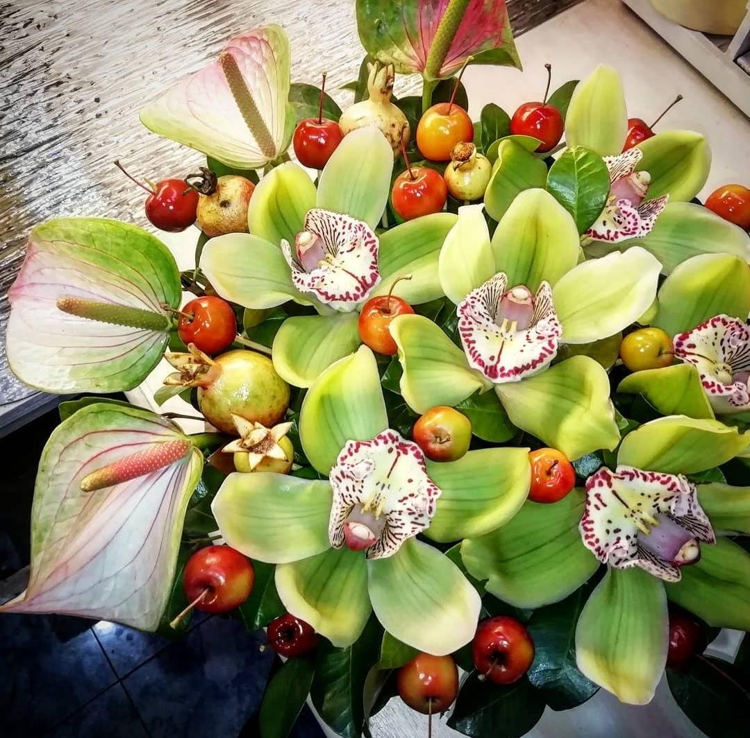 composizione orchidea,anturium